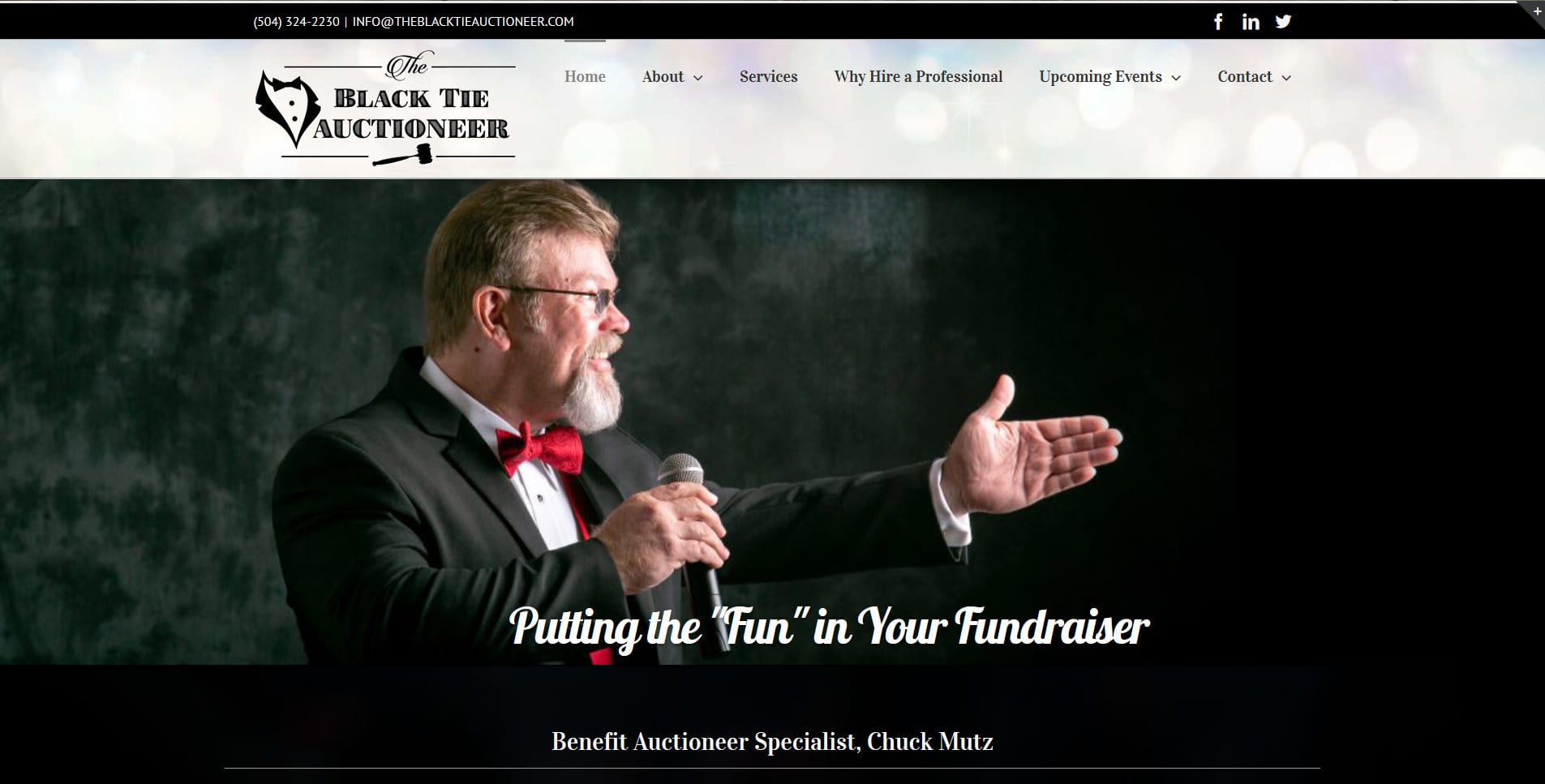 Black Tie Auctioneer